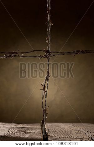 Crucifix From Barbed Wire