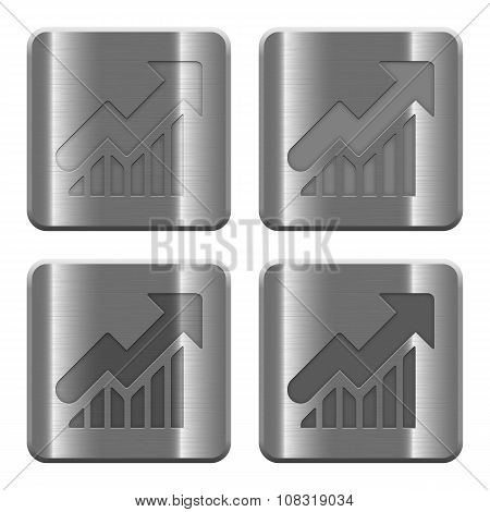 Metal Graph Buttons
