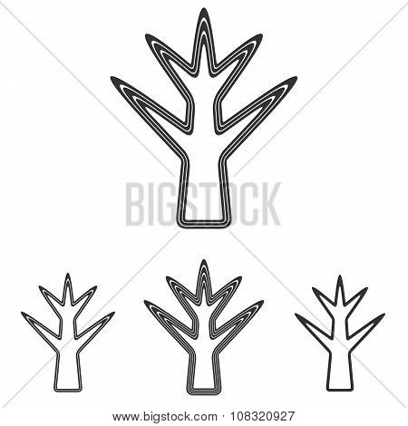 Black dead tree logo design set