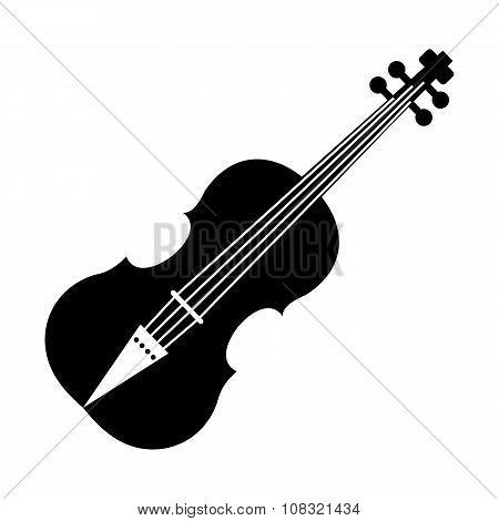 Violin black simple icon