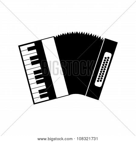 Accordion black icon