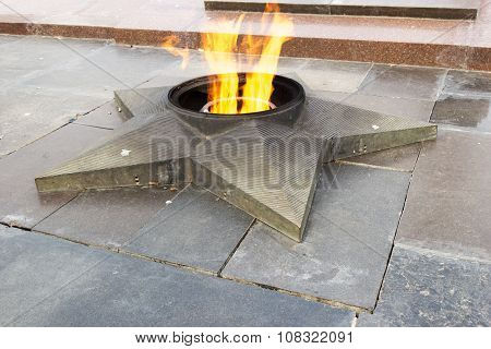 Monument Eternal Flame. On The Square Of The Fallen Fighters. Volgograd, Russia