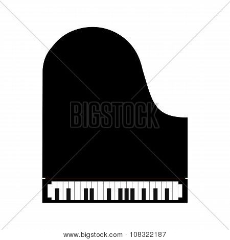Simple black piano icon