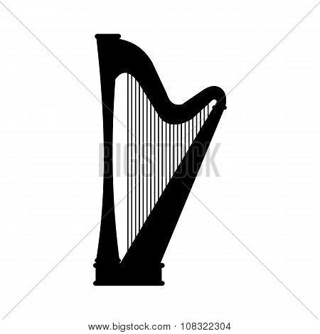 Harp black icon