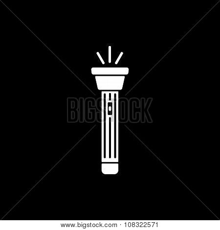 The flashlight icon. Torch symbol. Flat