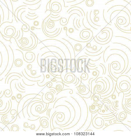 Vector seamless Golden linear shapes pattern. Modern stylish Chinese texture for your design. Banner