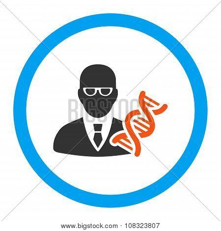 Genetic Engineer Rounded Glyph Icon