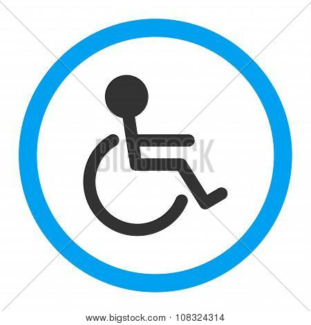 Handicapped Rounded Glyph Icon