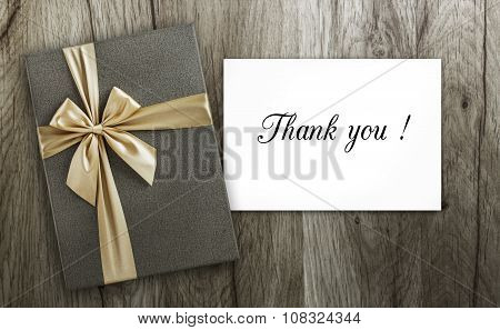 Present and Thank you card