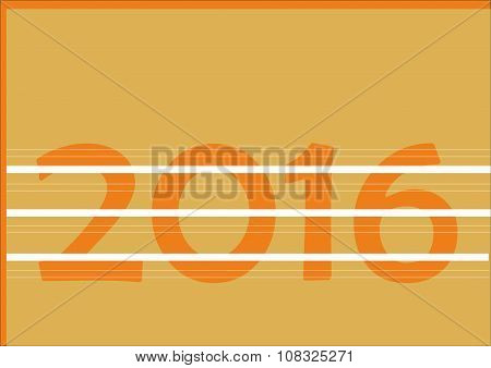 Number 2016 on orange background