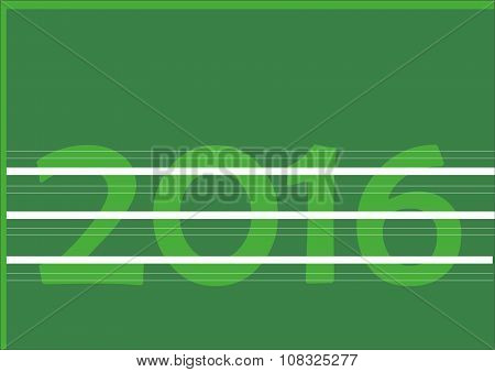 Number 2016 on green background