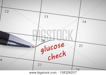 Pen against glucose check