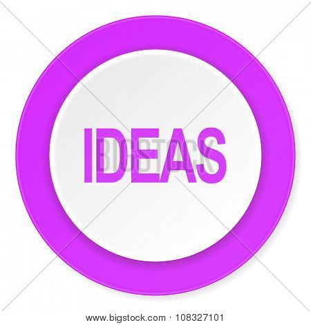 ideas violet pink circle 3d modern flat design icon on white background