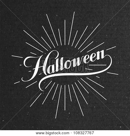 Halloween. Holiday Vector Illustration.