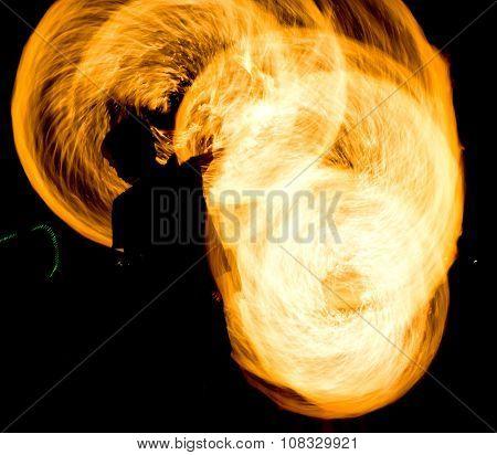 Fiery Motion Night Performance