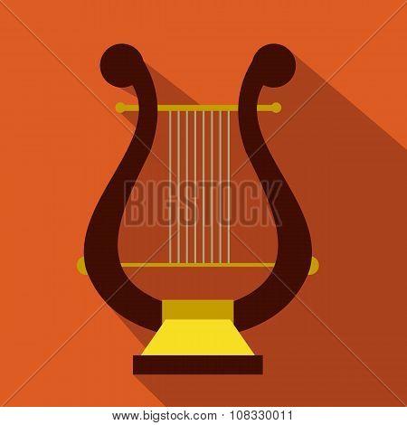 Lyre flat icon