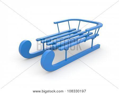 Blue sledge