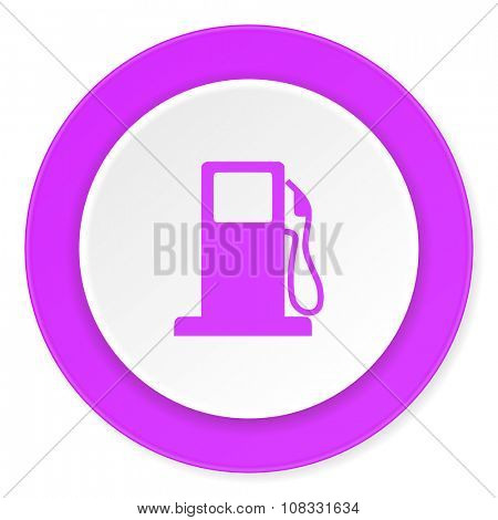 petrol violet pink circle 3d modern flat design icon on white background