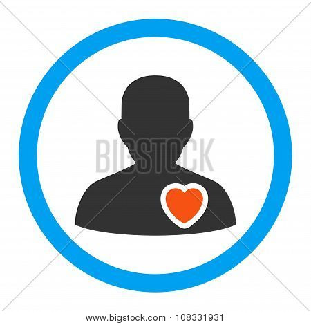 Patient Heart Rounded Glyph Icon