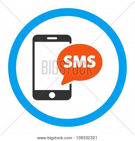 Phone Sms Rounded Glyph Icon