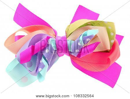 Colorful crazy hair bow