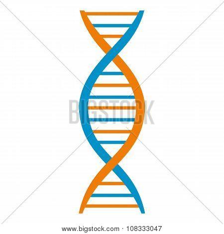 DNA and molecule symbol