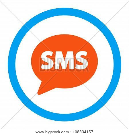 Sms Rounded Glyph Icon