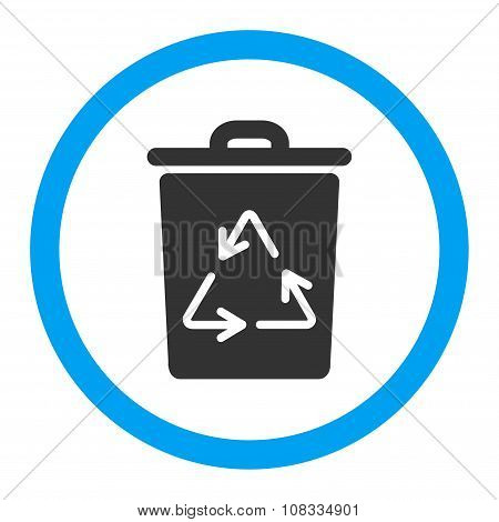 Trash Can Rounded Glyph Icon