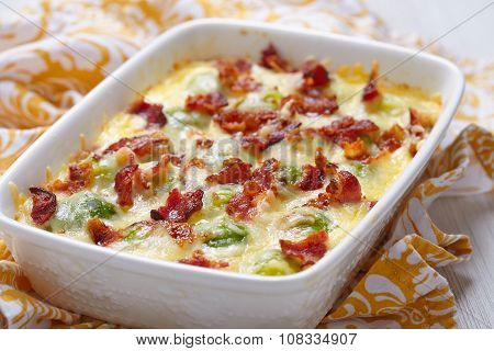 Brussel sprout casserole