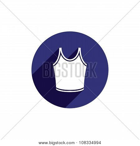 Singlet vector icon isolated. Clothing and fashion