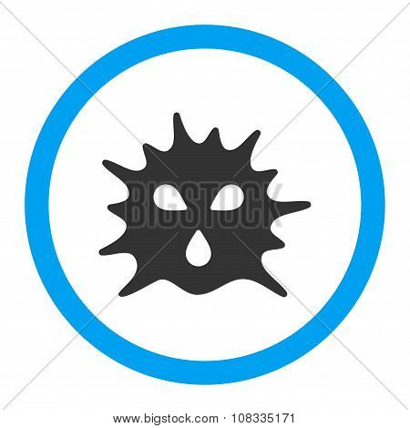 Virus Structure Rounded Glyph Icon