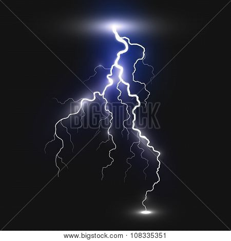 Realistic lightning sign