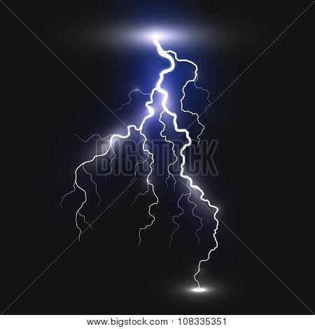 Realistic lightning sign