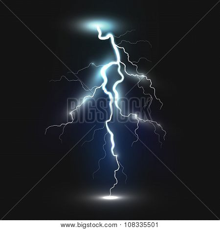 New realistic lightning icon