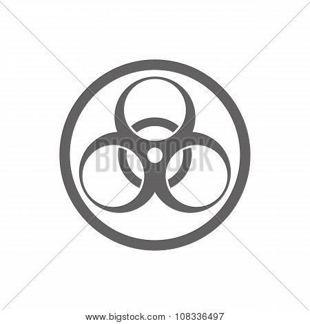 Biohazard vector symbol isolated on white background