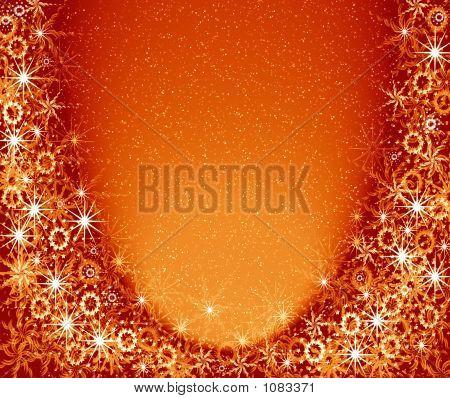 Weihnachten goldener Rahmen. Magische Licht