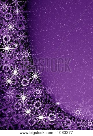 Christmas Violet Magic Frame
