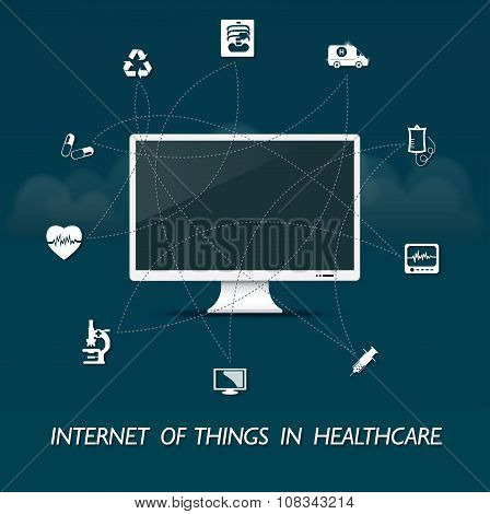 The internet of everything in healthcare -  computer control design