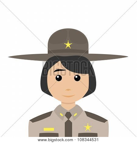 Sheriff With Black Hair