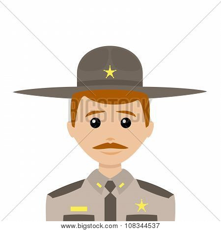 Sheriff With Red Hair And A Mustache