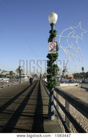 Pier, Holiday Lamp Post