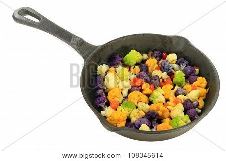 Sautéed Multicolored Cauliflower