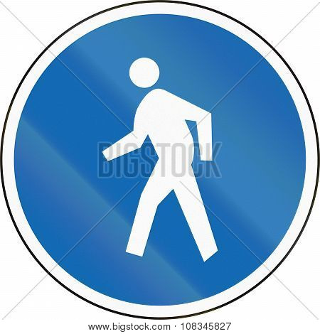 New Zealand Road Sign Rg-25 - Pedestrians Only (pedestrian Zone Or Pathway)
