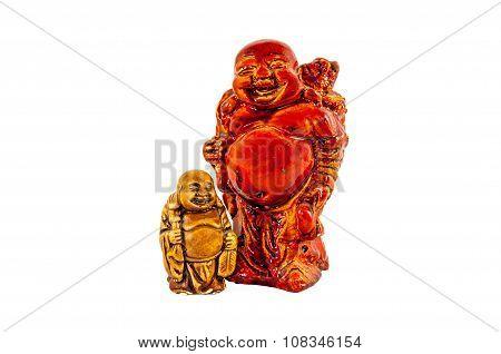 Big And Small Budai Hotei Netsukes