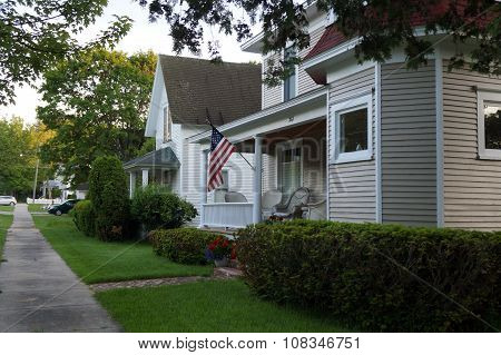 Harbor Springs Home Flies American Flag