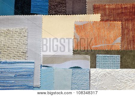various fabric swatches