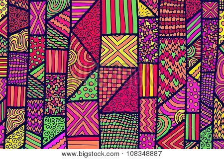 Zentangle Lines Color Background 4
