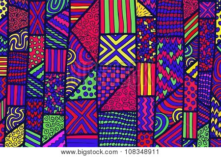 Zentangle Lines Color Background 5