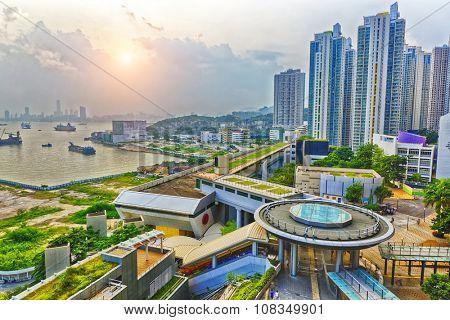 Hong Hong Public Estate Sunset