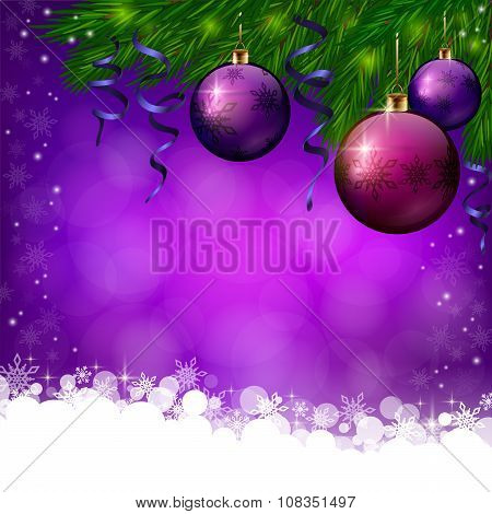 Christmas violete background